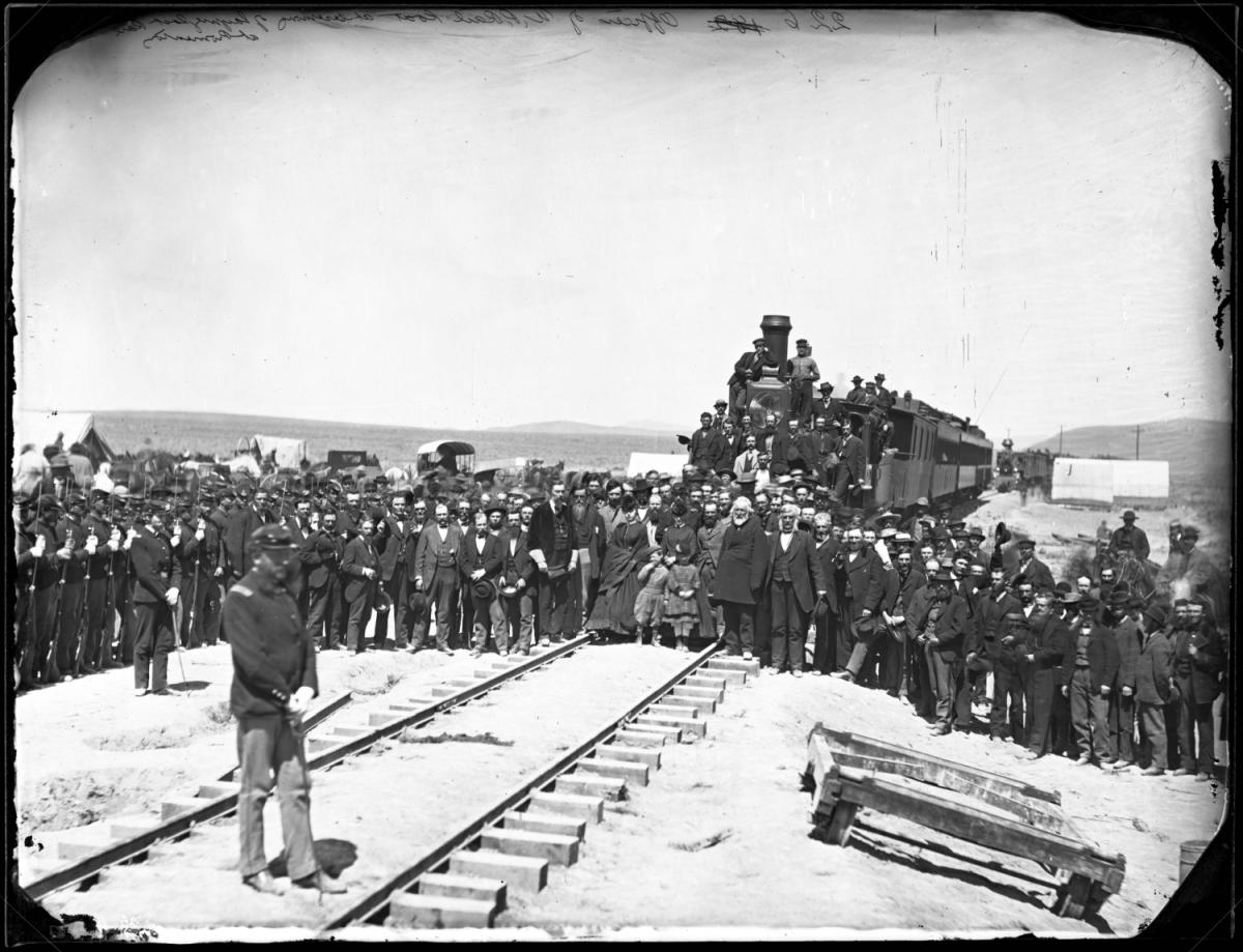 Photo of Union Pacific Officers May 10, 1869